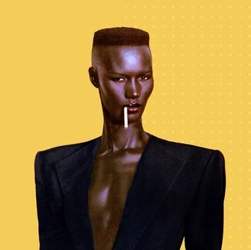 Grace Jones is a Jamaican model, singer, songwriter, record producer and actress.