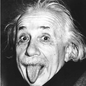 Albert Einstein was a German-born theoretical physicist who developed the theory of relativity,